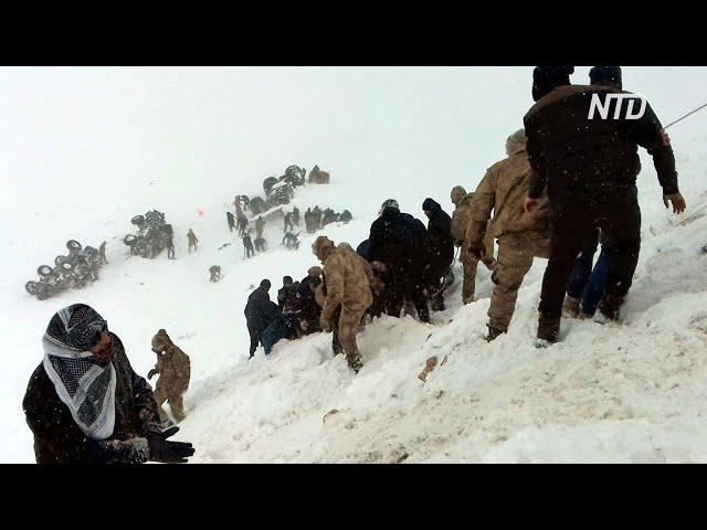 Турция: вторая лавина погубила спасателей, которые искали жертв первой