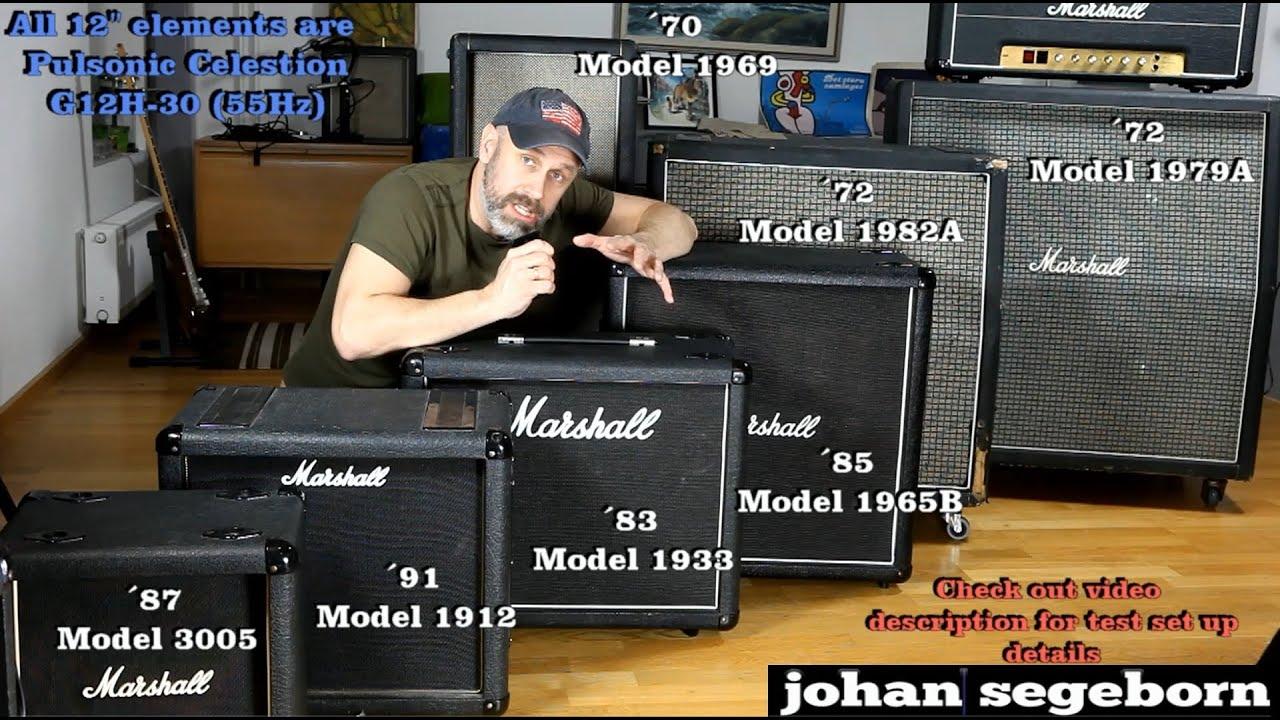7 Marshall Speaker Cabinet Comparison - Shootout - YouTube