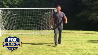 This is what happens when you lose a crossbar challenge to Zlatan Ibrahimovic
