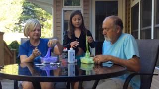 Grandma vs Grandpa Slime Challenge