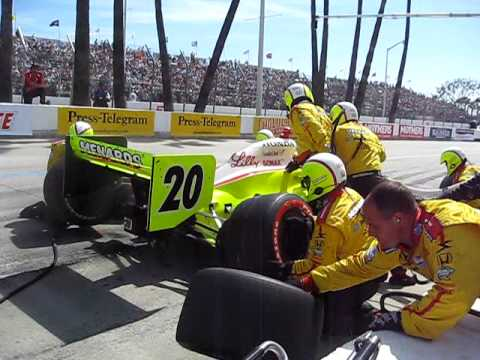 Ed Carpenter's Second Long Beach Pit Stop