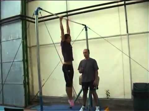Yelena Isinbayeva training