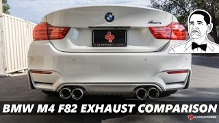 BMW M4 F82 Exhaust Comparison [Armytrix,  Akrapovic, Eisenmann, iPE] | 2017