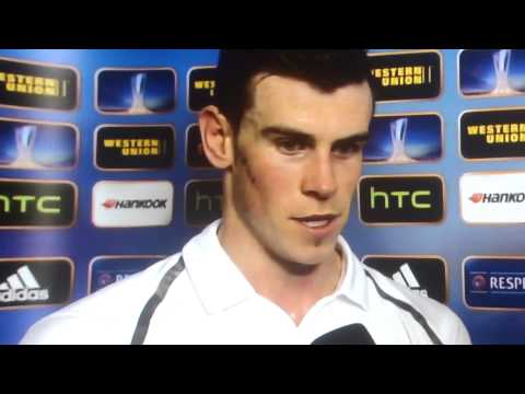 Gareth Bale Interview , Spurs 3 Inter Milan 0
