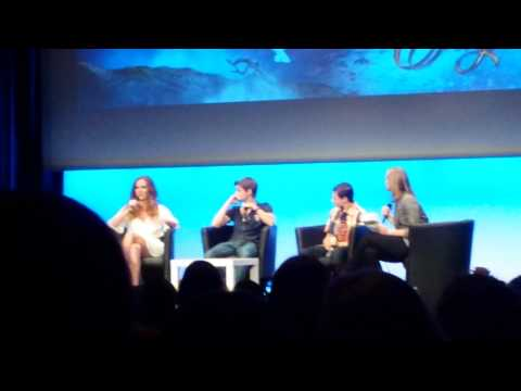 robbie kay - rebecca mader - jared gilmore panel fairytale convention...