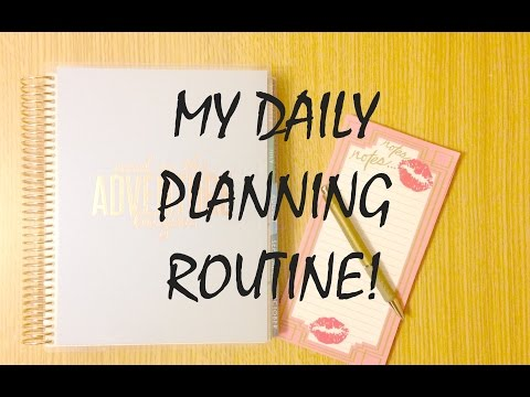 MY DAILY PLANNING ROUTINE | How I Schedule My Day – Study Edition!
