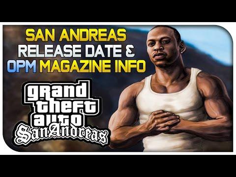 GTA San Andreas 720p Version Release Date OPM Magazine GTA 5 PS4 Info GTA V