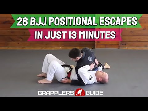 26 BJJ Positional Escapes In 13 Min - Reverse Scarf Hold, North South, Knee on Belly - Scully Image 1