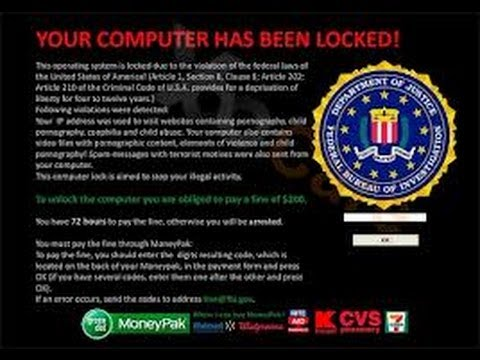 How to Remove the FBI MoneyPak Virus Windows7 (100% success)