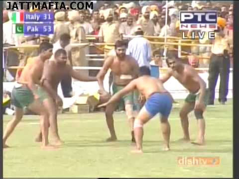 First Kabaddi World Cup 2010 Italy  Vs  Pakistan  Part 5  By Jattmafia 10th April Semi Final video