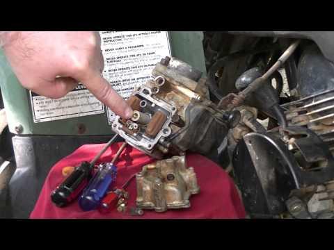 Cleaning the Carburetor on a Yamaha Big Bear 350!