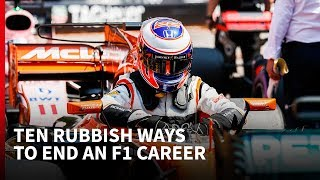 10 rubbish ways to end an F1 career