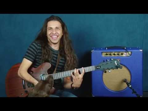 Jazz guitar lesson Pat Metheny inspired new 9th chord voicings composing with open strings