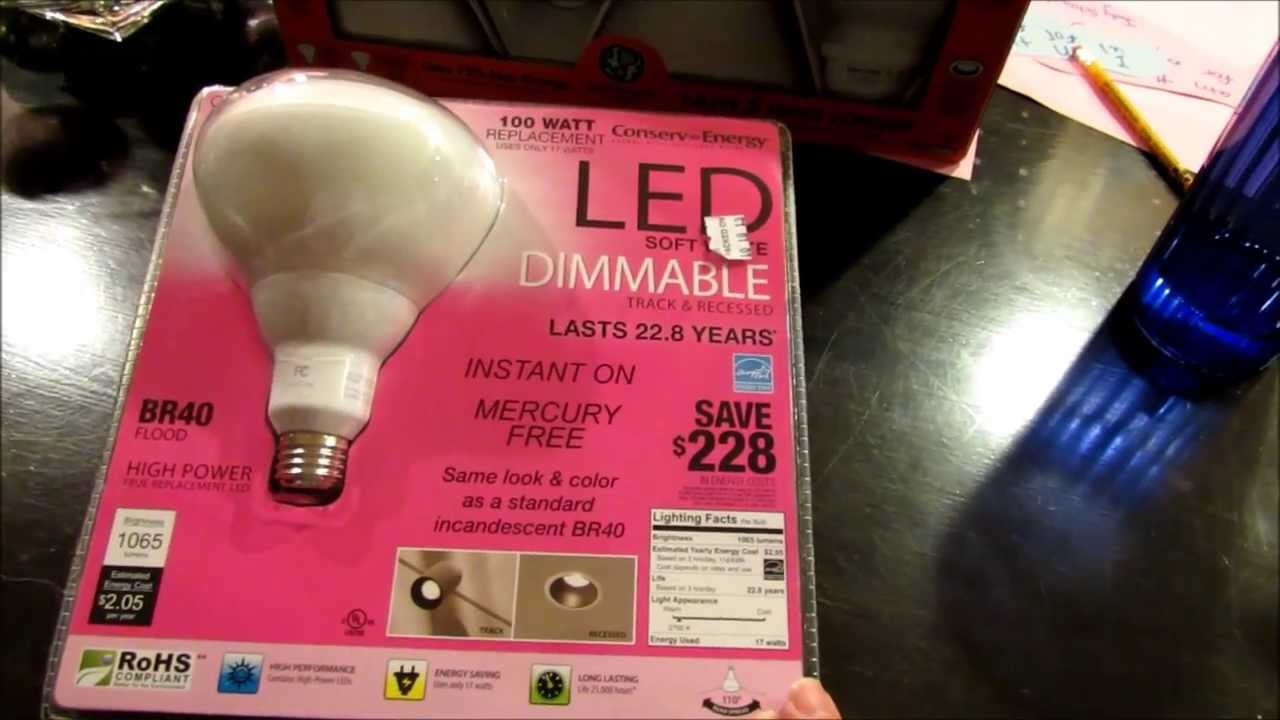 led costco recessed can lighting vs cfl youtube. Black Bedroom Furniture Sets. Home Design Ideas