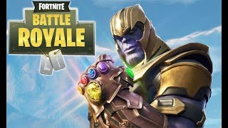 First Time Playing Fortnite - Trying to get Thanos Infinity Gauntlet in Fortnite Battle Royal