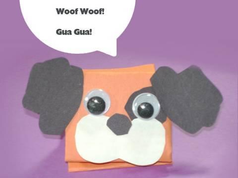 Como hacer un titere perrito de papel
