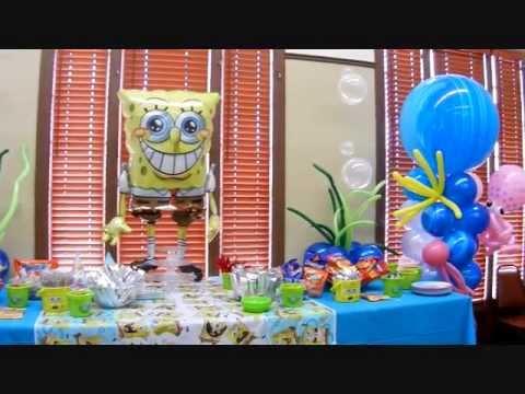 spongebob theme birthday party decorwmv youtube