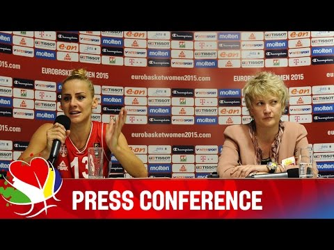 Turkey v Serbia - Post-Game Press Conference - EuroBasket Women 2015