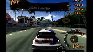 Gran Turismo 3 Arcade Mode Area B Tahiti Dirt Route 3