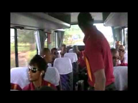 DWAYNE BRAVO ENTERTAINS HIS TEAM MATES IN GUYANA DURING PAKISTAN ODI SERIES