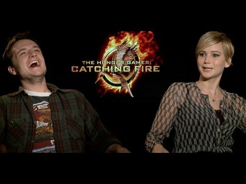 Hunger Games Catching Fire Interviews - Lawrence, Hutcherson, Hemsworth, Claflin, Malone, Banks