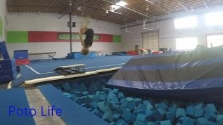 5 year old Brea learning front tucks