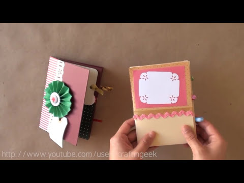 Minibook - idea Scrapbook ~ mini Album FACIL - Dia de los enamorados