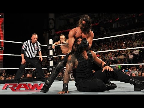 Roman Reigns & Daniel Bryan Vs. Randy Orton & Seth Rollins: Raw, February 23, 2015 video