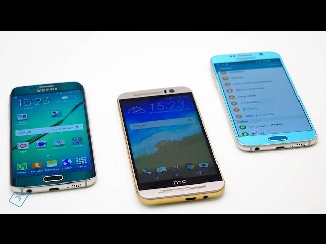 ▶ Galaxy S6 vs.  HTC One M9 vs. Galaxy S6 Edge - Vergleich