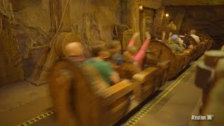 [4K] Seven Dwarfs Mine Train  Roller Coaster Ride POV - Magic Kingdom 2016
