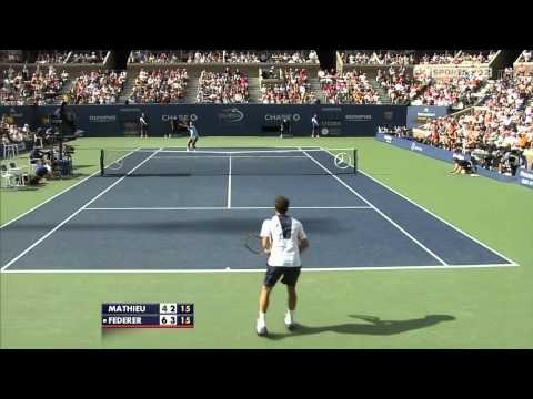 Federer vs Mathieu - R3 US Open 2010 [HD] Music Videos