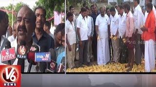 Speaker Madhusudhana Chary Participates In Palle Nidra In Bandapalli | Jayashankar Bhupalpally |V6