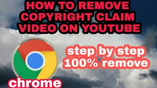HOW TO REMOVE COPYRIGHT CLAIM ON YOUR VIDEO FROM YOUTUBE 100% REMOVE - STEP BY STEP(TAGALOG)