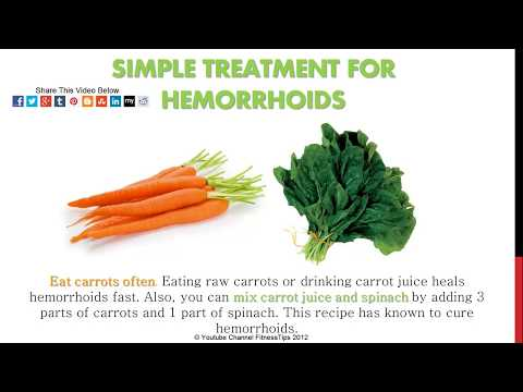 Hemorrhoids Home Treatment - Relief Recipes