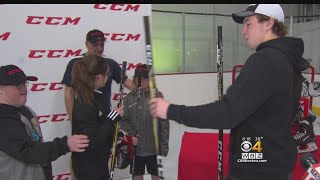 Charlie McAvoy Donates Hockey Equipment And Visits Smart Light Sports