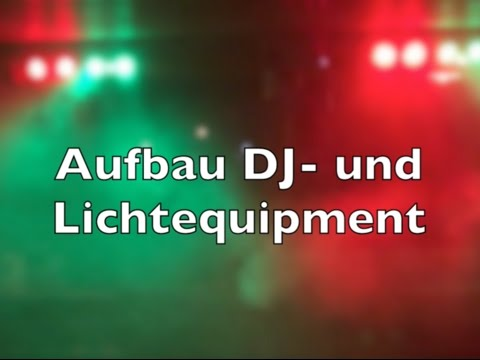 Aufbau DJ Equipment