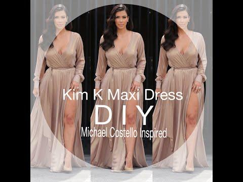 DIY: Kim K Maxi Dress (Michael Costello Inspired)