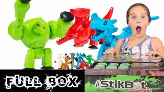 CHECK OUT THESE STIKBOT MONSTERS! | MEGA MONSTERS | STOP MOTION ANIMATION #STIKBOT