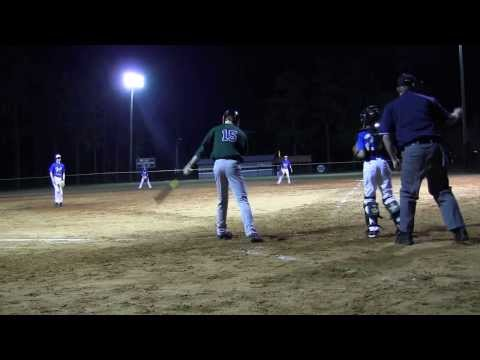 Logan Ammons hit a 2-run Triple for the Northwood Academy on Monday, 3-10-14.