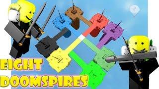 Doomspire Brickbattle with 8 Doomspires