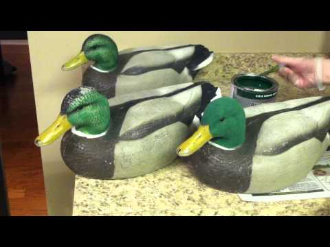 Flocking the head of your Duck Decoys