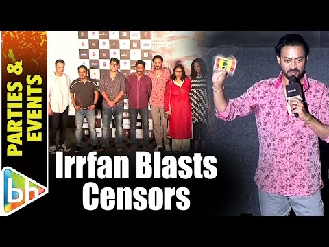 Irrfan Khan BLASTS Censors, Government On Udta Punjab Row At Dama Dama Dam Launch