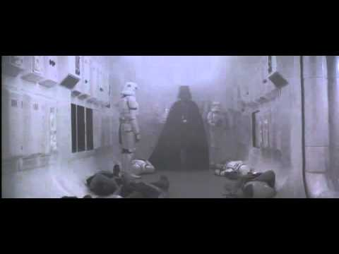 L'entre de Dark Vador, extrait de Star Wars : Episode IV - Un nouvel espoir (La Guerre des toiles) (1977)