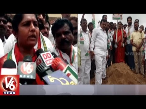 Ex Minister Sunitha Laxma Reddy Protest Against Telangana Govt Over Haldi Reservoir Sand | V6 News