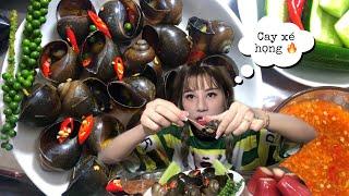 Ăn Ốc Bưu Hấp Xả Tiêu Xanh Và 20 trái Ớt Có Ngon Không ? | Nana Liu Thánh Nữ Nhạc chế
