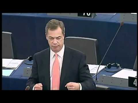 UKIP Nigel Farage MEP -Globalist EU Troika Driving Greece Towards Violent Revolution Feb 15th 12