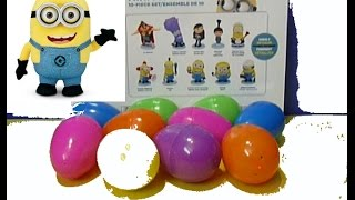 MINIONS DESPICABLE ME 10 surprise eggs surprise Unboxing  MINI figurines playset Oeufs Minion