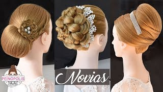 3 Hairstyles for Brides | Weddings | Parties | Elegant Fashion Braids 2019