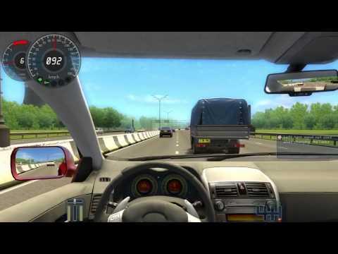 City Car Driving - speeding on motorway with agressive heavy traffic