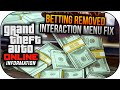 Watch GTA 5 Online Betting Removed & Interaction Menu FIX ! (GTA V Gameplay) Video